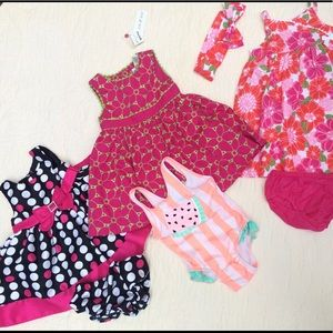 18 month girl lot of dresses and bathing suit NWT